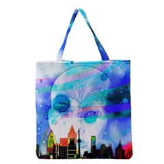 Dirty Dirt Spot Man Doll View Grocery Tote Bag