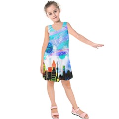 Dirty Dirt Spot Man Doll View Kids  Sleeveless Dress