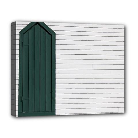 Construction Design Door Exterior Deluxe Canvas 20  X 16