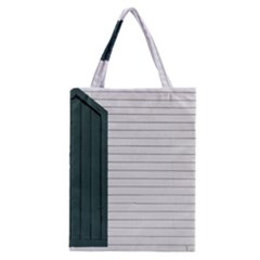 Construction Design Door Exterior Classic Tote Bag