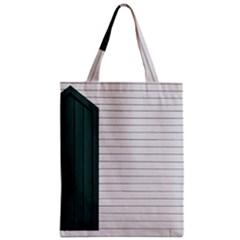 Construction Design Door Exterior Zipper Classic Tote Bag