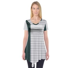 Construction Design Door Exterior Short Sleeve Tunic