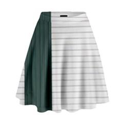 Construction Design Door Exterior High Waist Skirt
