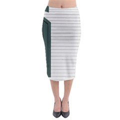 Construction Design Door Exterior Midi Pencil Skirt