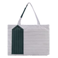 Construction Design Door Exterior Medium Tote Bag