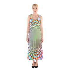 Color Abstract Background Textures Sleeveless Maxi Dress