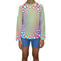 Color Abstract Background Textures Kids  Long Sleeve Swimwear