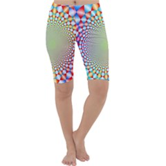 Color Abstract Background Textures Cropped Leggings