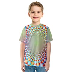 Color Abstract Background Textures Kids  Sport Mesh Tee