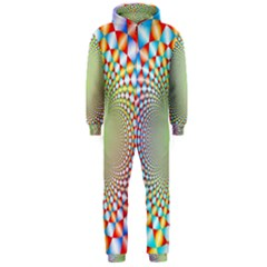 Color Abstract Background Textures Hooded Jumpsuit (men)