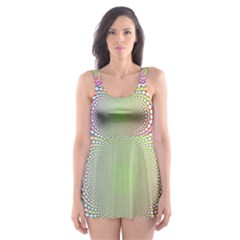 Color Abstract Background Textures Skater Dress Swimsuit