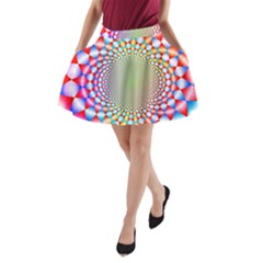 Color Abstract Background Textures A-Line Pocket Skirt
