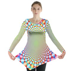 Color Abstract Background Textures Long Sleeve Tunic