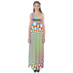 Color Abstract Background Textures Empire Waist Maxi Dress