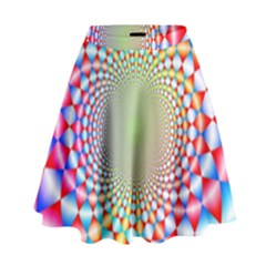 Color Abstract Background Textures High Waist Skirt