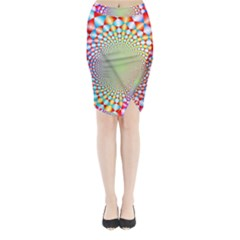 Color Abstract Background Textures Midi Wrap Pencil Skirt