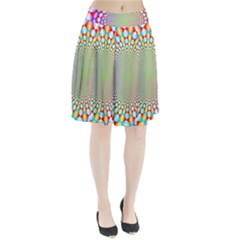 Color Abstract Background Textures Pleated Skirt