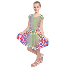 Color Abstract Background Textures Kids  Short Sleeve Dress