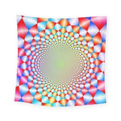 Color Abstract Background Textures Square Tapestry (small)