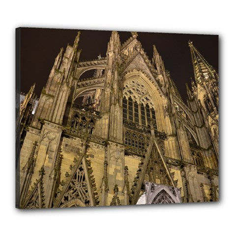 Cologne Church Evening Showplace Canvas 24  X 20