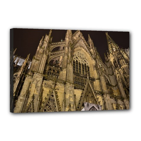 Cologne Church Evening Showplace Canvas 18  X 12