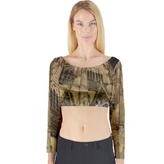 Cologne Church Evening Showplace Long Sleeve Crop Top