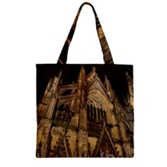 Cologne Church Evening Showplace Zipper Grocery Tote Bag