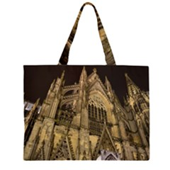 Cologne Church Evening Showplace Zipper Large Tote Bag