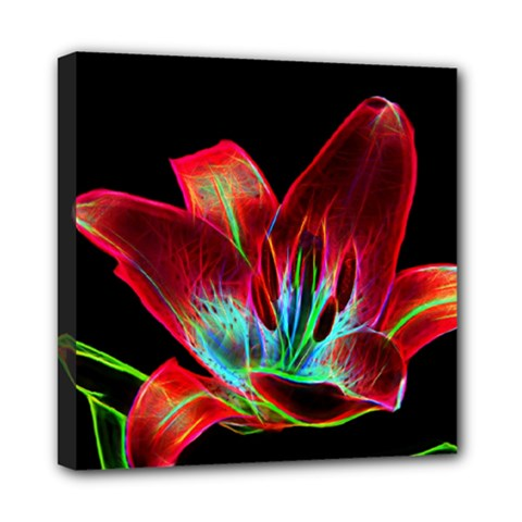 Flower Pattern Design Abstract Background Mini Canvas 8  X 8