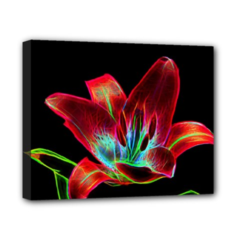 Flower Pattern Design Abstract Background Canvas 10  X 8