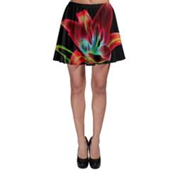 Flower Pattern Design Abstract Background Skater Skirt