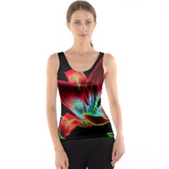 Flower Pattern Design Abstract Background Tank Top