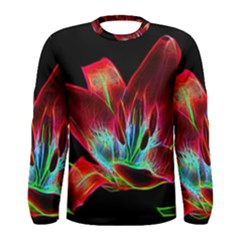 Flower Pattern Design Abstract Background Men s Long Sleeve Tee