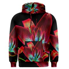 Flower Pattern Design Abstract Background Men s Pullover Hoodie