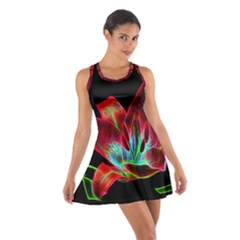 Flower Pattern Design Abstract Background Cotton Racerback Dress
