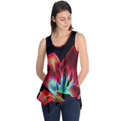 Flower Pattern Design Abstract Background Sleeveless Tunic