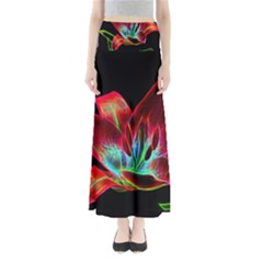 Flower Pattern Design Abstract Background Maxi Skirts