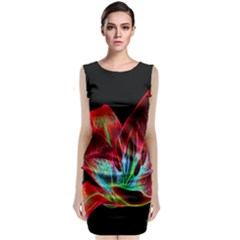 Flower Pattern Design Abstract Background Classic Sleeveless Midi Dress