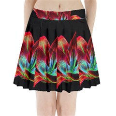 Flower Pattern Design Abstract Background Pleated Mini Skirt
