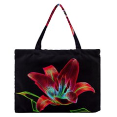 Flower Pattern Design Abstract Background Medium Zipper Tote Bag
