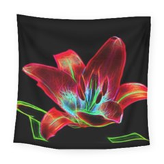 Flower Pattern Design Abstract Background Square Tapestry (large)