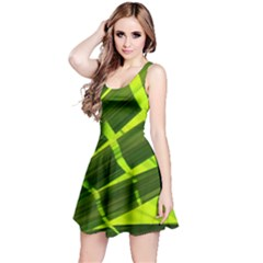 Frond Leaves Tropical Nature Plant Reversible Sleeveless Dress