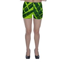 Frond Leaves Tropical Nature Plant Skinny Shorts