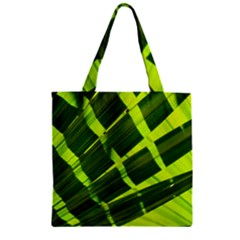 Frond Leaves Tropical Nature Plant Zipper Grocery Tote Bag