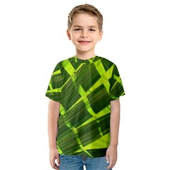 Frond Leaves Tropical Nature Plant Kids  Sport Mesh Tee