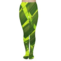 Frond Leaves Tropical Nature Plant Women s Tights