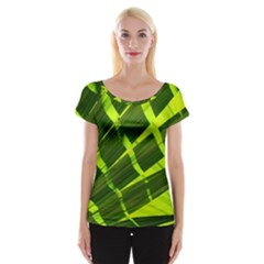 Frond Leaves Tropical Nature Plant Women s Cap Sleeve Top
