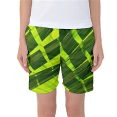 Frond Leaves Tropical Nature Plant Women s Basketball Shorts