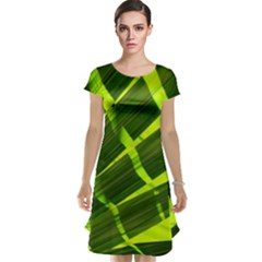 Frond Leaves Tropical Nature Plant Cap Sleeve Nightdress