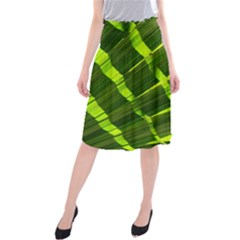 Frond Leaves Tropical Nature Plant Midi Beach Skirt